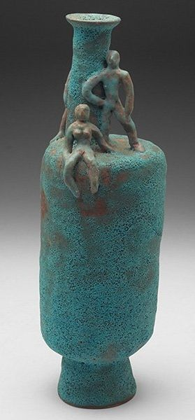 Beatrice Wood; Glazed Ceramic Vessel, c1960.