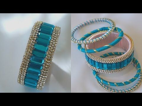 Turn Your Old Bangles Into latest Slik Thread Bangles/Slik Thread Bangles - YouTube