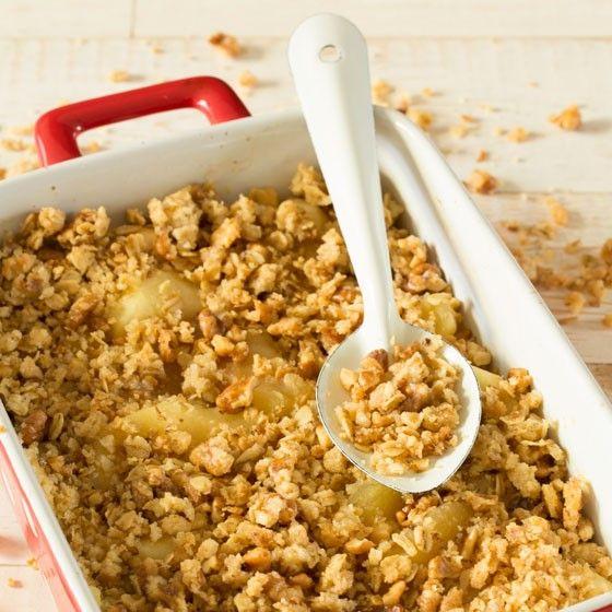 Crumble met crunchy kruimeltopping