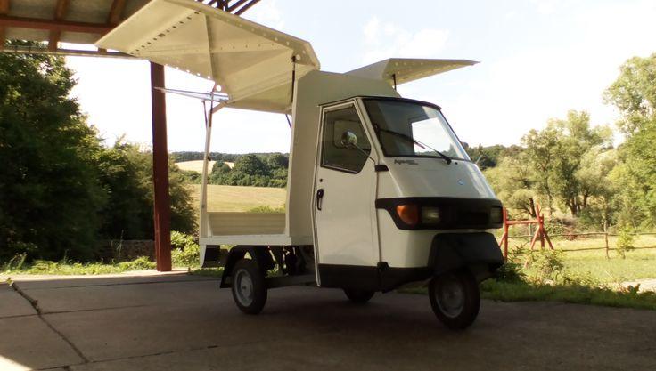 Piaggio Ape verkaufsmobil street food truck