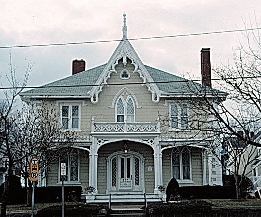 Gothic Revival style dated The first Gothic Revival homes were made of  stone and brick which imitated the great Gothic Cathedrals of Medieval  Europe.