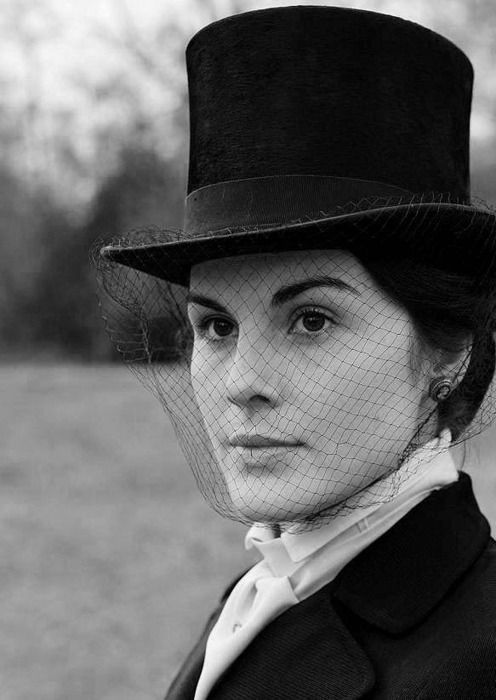 Michelle Dockery (I've always wanted a top hat with a veil). She is one of my style icons.