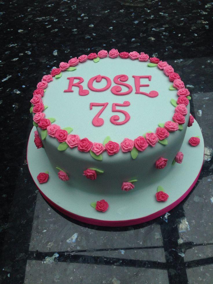 Cath Kidston inspired vintage rose birthday cake