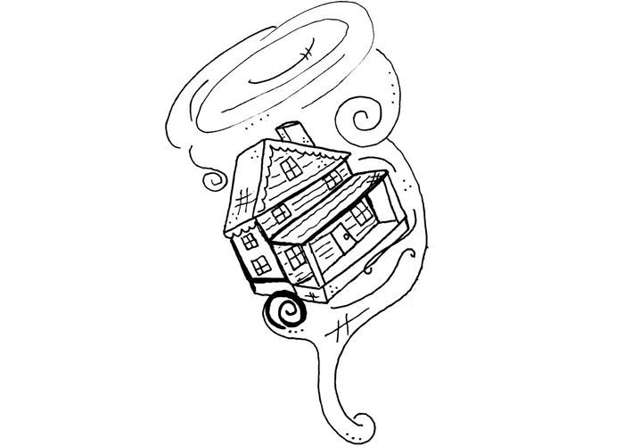 Tornado Coloring Pages For Kids - http://fullcoloring.com/tornado-coloring-pages-for-kids.html