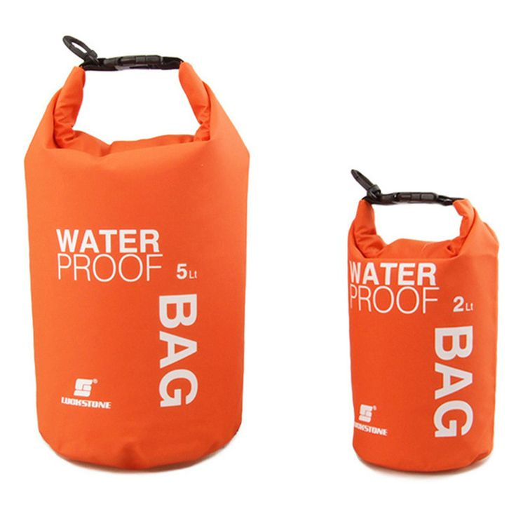 New 4 Colors 2L 5L Ultralight Portable Outdoor Hiking Rafting Waterproof Dry Bag Swimming Storage Camping Equipment Water Bags