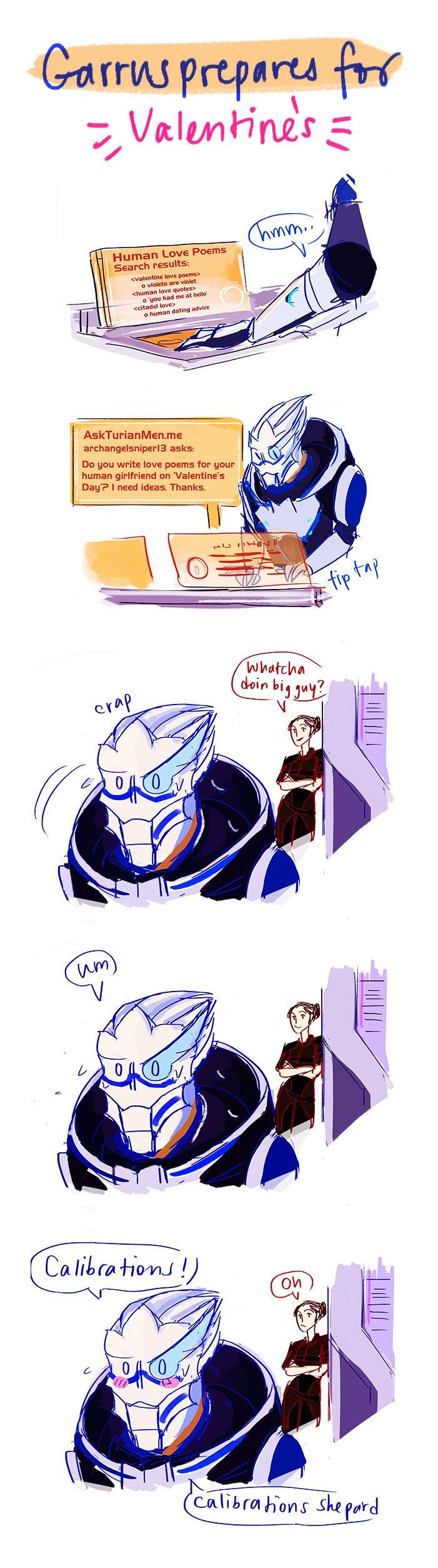 Garrus' All-Purpose Excuse [Valentine's Special] by reubelyn.deviantart.com on @deviantART