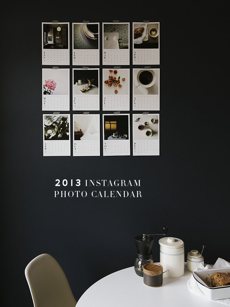 Instagram photo calendar