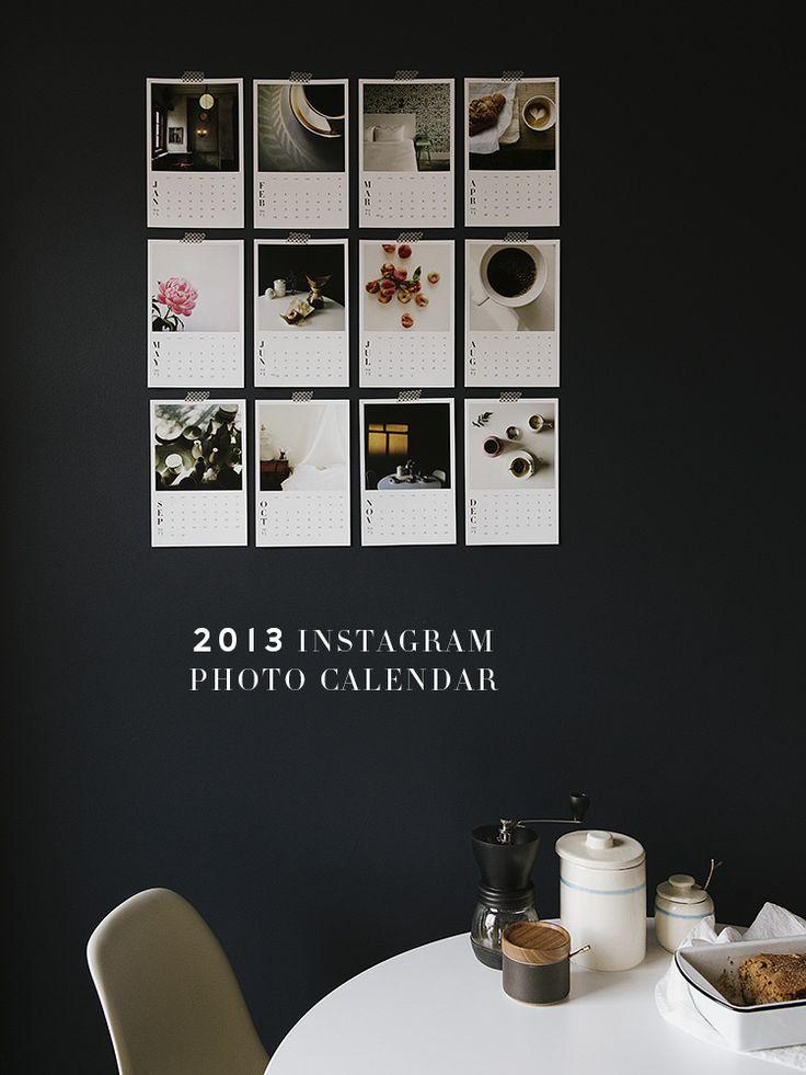 Instagram photo calendar -- love this!