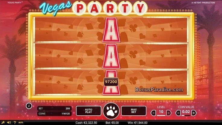 Mega Win on Vegas Party Video Slot