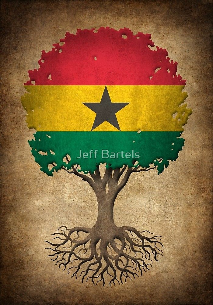 Tree of Life Ghana Flag