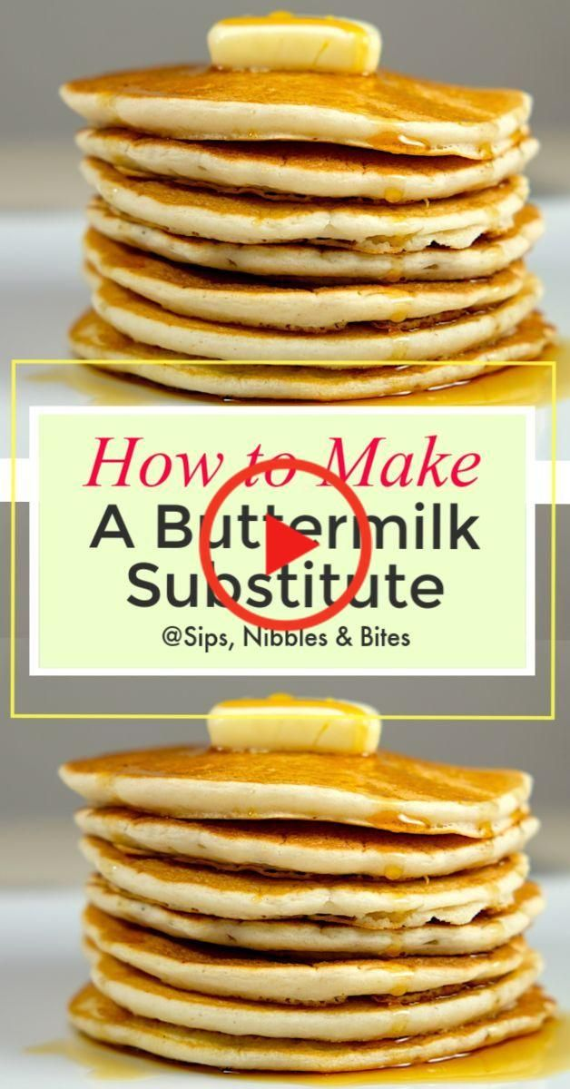 How To Make Buttermilk In 2020 Buttermilk Substitute Recipes Pancake Recipe Buttermilk