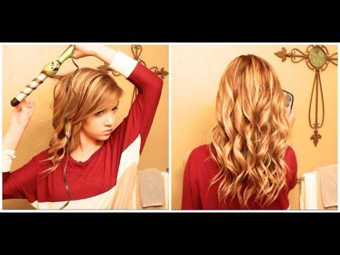 Hair Tutorial: How I Curl My Thick Long Hair With A Wand - YouTube