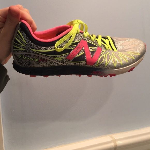 Running spikes! Super cute running spikes! Can be used off the track or on the track!✅✅! Very pretty colors and design! Excellent condition! ✅ great price! ✅ Fantom fit Shoes Sneakers