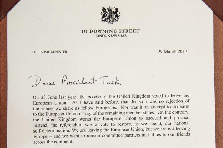 Ecco la lettera del Regno Unito per attivare la Brexit | Eunews