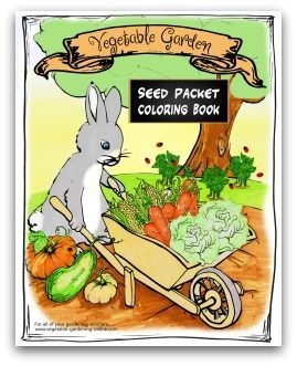 Free Printable Vegetable Garden Seed Packet Coloring Book For Elementary Age Kids Fun Learning