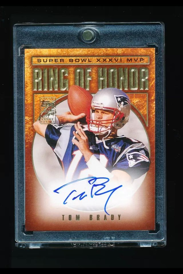 TOM BRADY 2002 TOPPS RING OF HONOR SUPER BOWL XXXVI MVP AUTOGRAPH AUTO   PATRIOTS  b70486a53