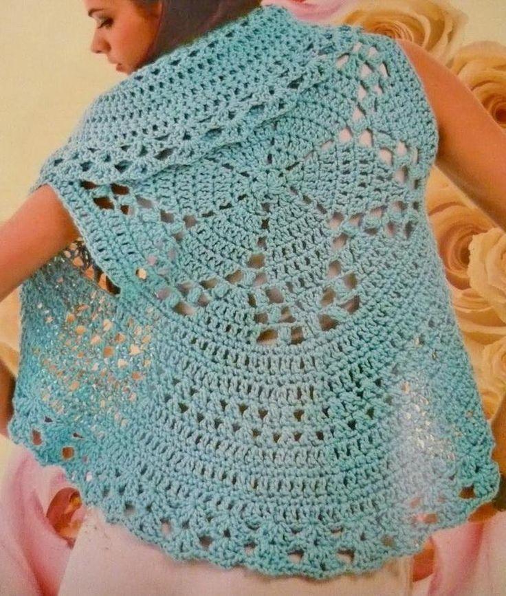 Circular Vest, free pattern diagram  #crochet