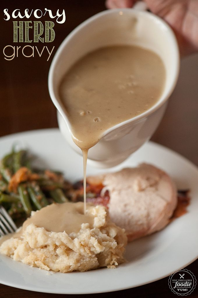 This SAVORY HERB GRAVY is the real deal... and the best turkey gravy you'll ever have!  Soooo good!!!