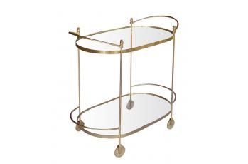 Iron Oval trolley with Brass Plating available at meizai