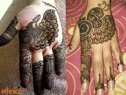 Mehndi Henna Design With Peacock Motif : Best peacock mehndi designs images