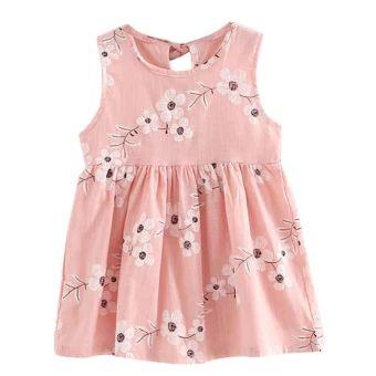 เก็บเงินปลายทาง  Kids Girls Sleeveless Morning Glory Print Cotton and Linen Dress -intl  ราคาเพียง  159 บาท  เท่านั้น คุณสมบัติ มีดังนี้ Product: dress Material: linen Color: as picture Gender: girl Sleeve length: sleeveless Seasons: spring, summer, Size: 90, 100, 110, 120, 130 For ages: the child (2 to 7 years old), cuhk children(8-16)