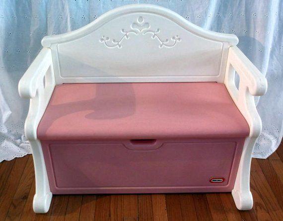Strange Toybox Vintage 1990S Little Tikes Girls Pink Plastic Bench Creativecarmelina Interior Chair Design Creativecarmelinacom