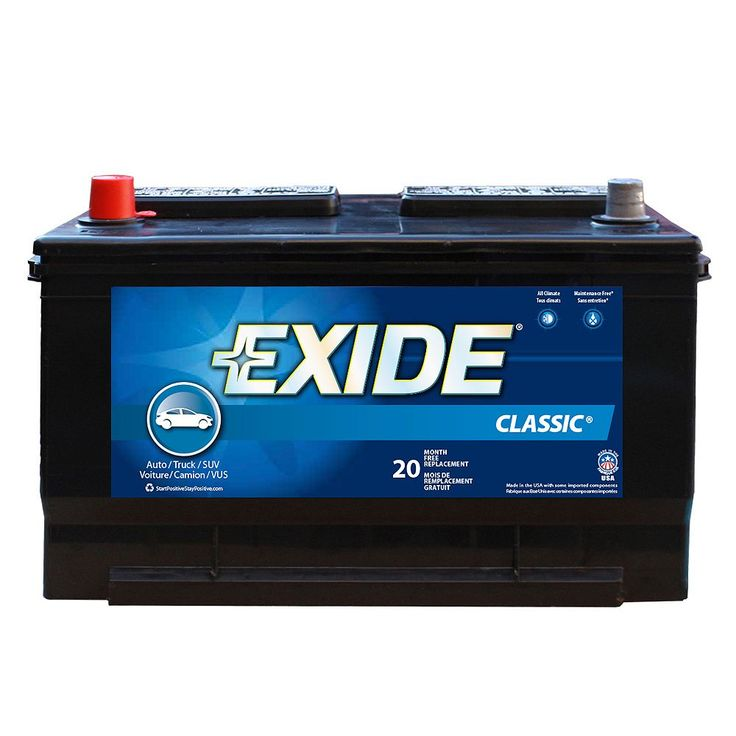 Group 65 Battery Exide Classic Automotive The Canada 58 Positive Terminal Triple A Marine Costco In 2020 Used Car Parts Aftermarket Car Parts Hitch Cargo Carrier