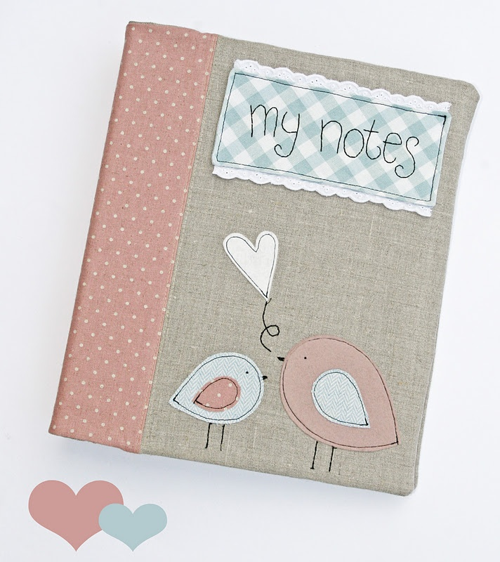 notebook cover with birds
