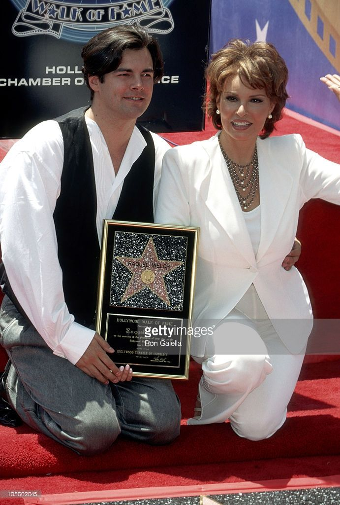 Raquel Welch and Son Damon Welch during Raquel Welch Receives Hollywood Walk of Fame Star at Hollywood Boulevard in Hollywood, California, United States.