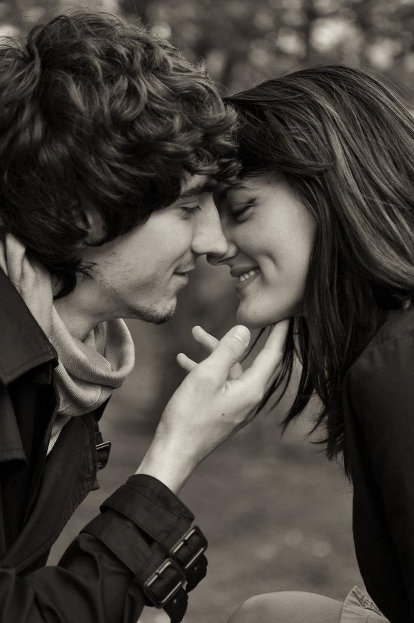 would be cute for a wedding invite picture, especially if the couple will share their first kiss on the day
