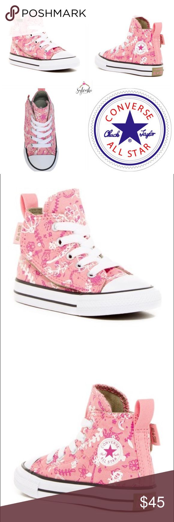 🆕 Converse Chuck Taylor  Simple Step Slip On Converse Chuck Taylor All Star Simple Step Slip On Sneaker Girls Pink/Print  Details  She'll be running around in these cute, graphic print Chuck Taylor All Stars!  Sizing: Runs large: order next size down.  - Round cap toe - Lace-up vamp - Converse brand logo - Hook-and-loop closure - Back pull-tab - Lightly padded footbed - Rubber bumper - Grip sole - Imported Materials Textile upper, textile and rubber sole  No Box Converse Shoes Sneakers