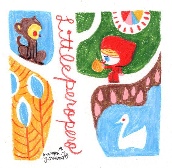 朝の手描き。ずーっとナメてるけど・・・いつ食べるんだ?#littlepero #ペロずきん #illust #イラスト #monkey #kawaii #かわいい #イラスト #サル