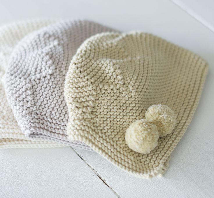 Capota estrella de algodón en punto bobo
