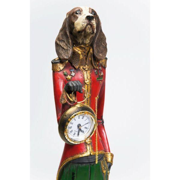Επιτραπέζιο Ρολόι Gentleman Dog  Ένα διαφορετικό επιτραπέζιο ρολόι, ένας υπέροχος διακοσμητικός σκύλος Gentleman, από Polyresin. Μπαταρία 1 x LR44.