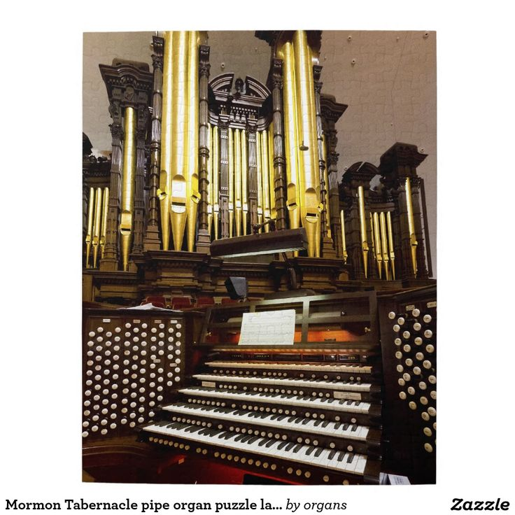 Mormon Tabernacle Pipe Organ Puzzle Larger Size