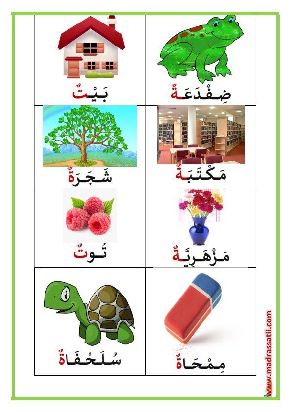 حرف التاء في آخر الكلمة كلمات تحتوي على حرف التاء موقع مدرستي Arabic Alphabet For Kids Alphabet For Kids Arabic Alphabet