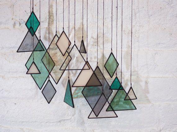 Stained Glass Elements set of 17 von BespokeGlassTile auf Etsy