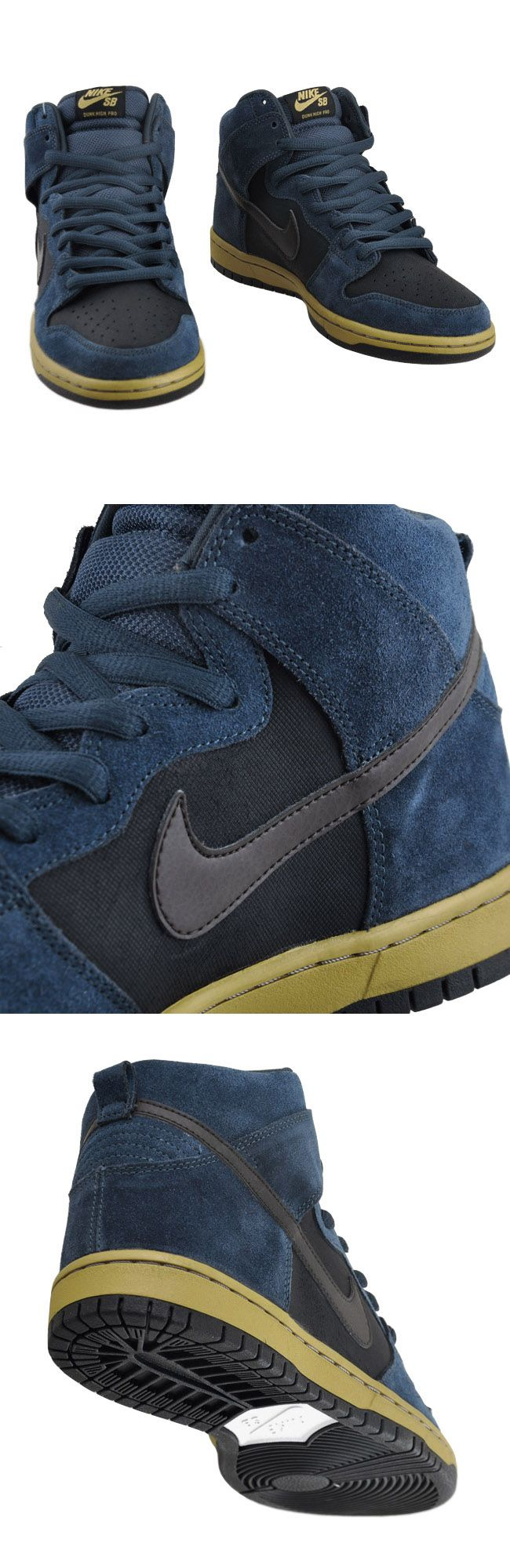 Nike SB Dunk High Navy/Gold.