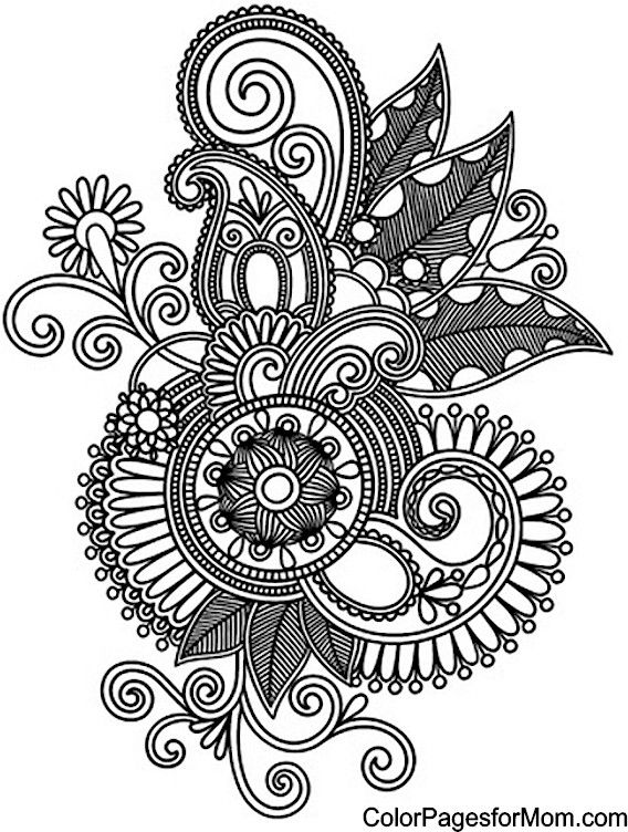 Paisley Coloring Page 18