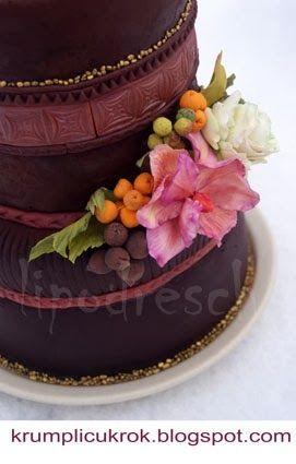 cake with sugar flower