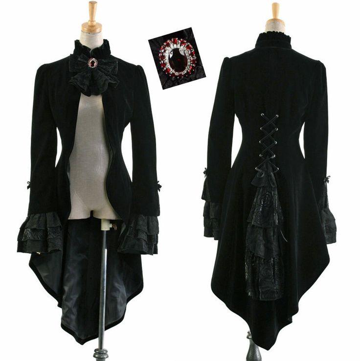 Veste Gothique Victorienne Steampunk Dandy Tournure Burlesque Corset Homme | eBay