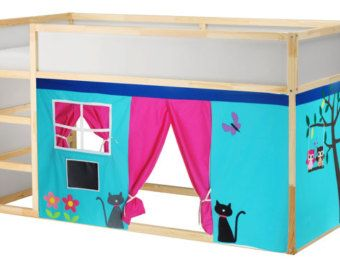 Letto a castello Playhouse / letto tenda / di CreativePlayShop