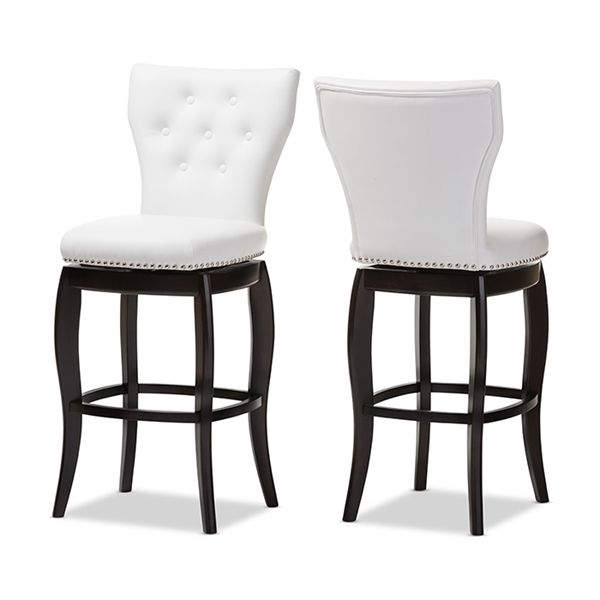 Shop Baxton Studio BBT5222 Leonice Faux Leather Swivel Bar Stool (Set of 2) at The Mine. Browse our bar stools, all with free shipping and best price guaranteed.