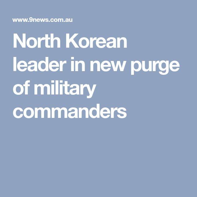 North Korean leader in new purge of military commanders