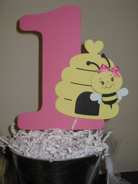 Bumble Bee Table Centerpiece Cake Topper Decoration 1st Birthday On Etsy 500