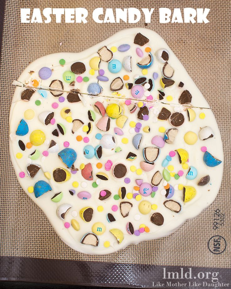This Easter Candy Bark is delicious, fun and festive and combines some of my favorite things in the world #easter #lmldfood