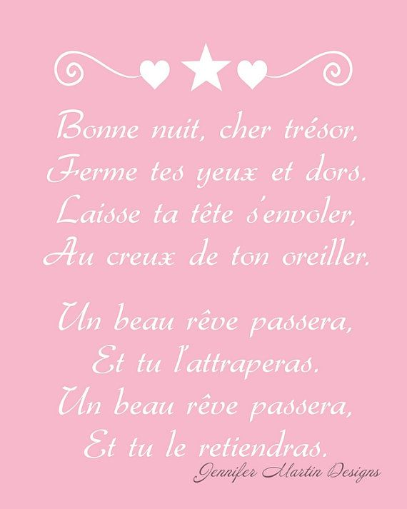 8x10 French Nursery Art Print - Berceuse