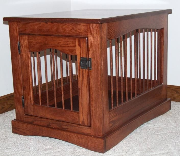 Wooden End Table Dog Crate Woodworking Projects Plans