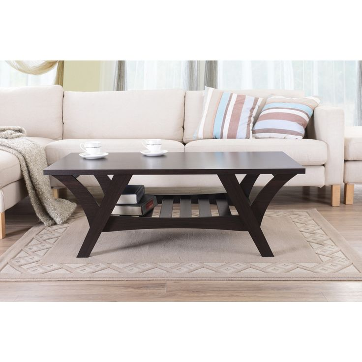 Furniture Of America Sharice Contemporary Espresso Coffee Table