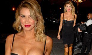 Brandi Glanville flashes cleavage as she leaves Hollywood hotspot Craig's   Daily Mail Online